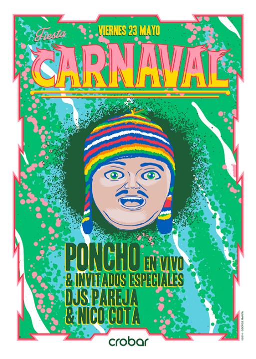Danzeria-Carnaval poncho