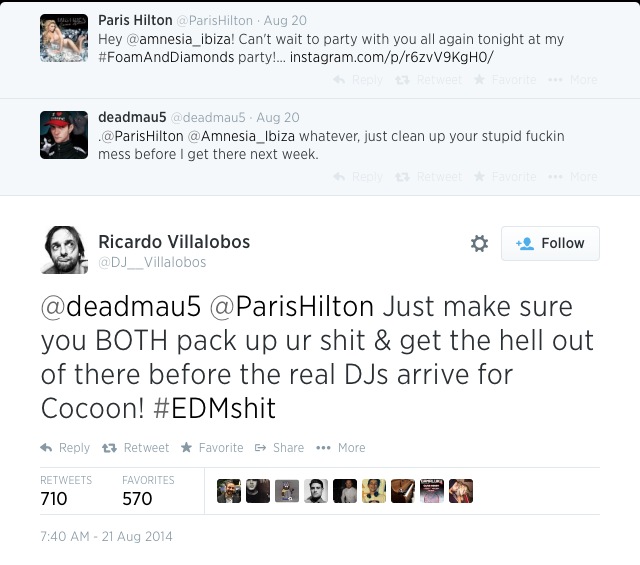Villalobos vs Paris Hilton and Deadmau5