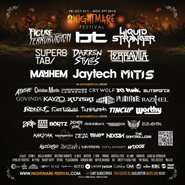 NightmareFestival line up 2014