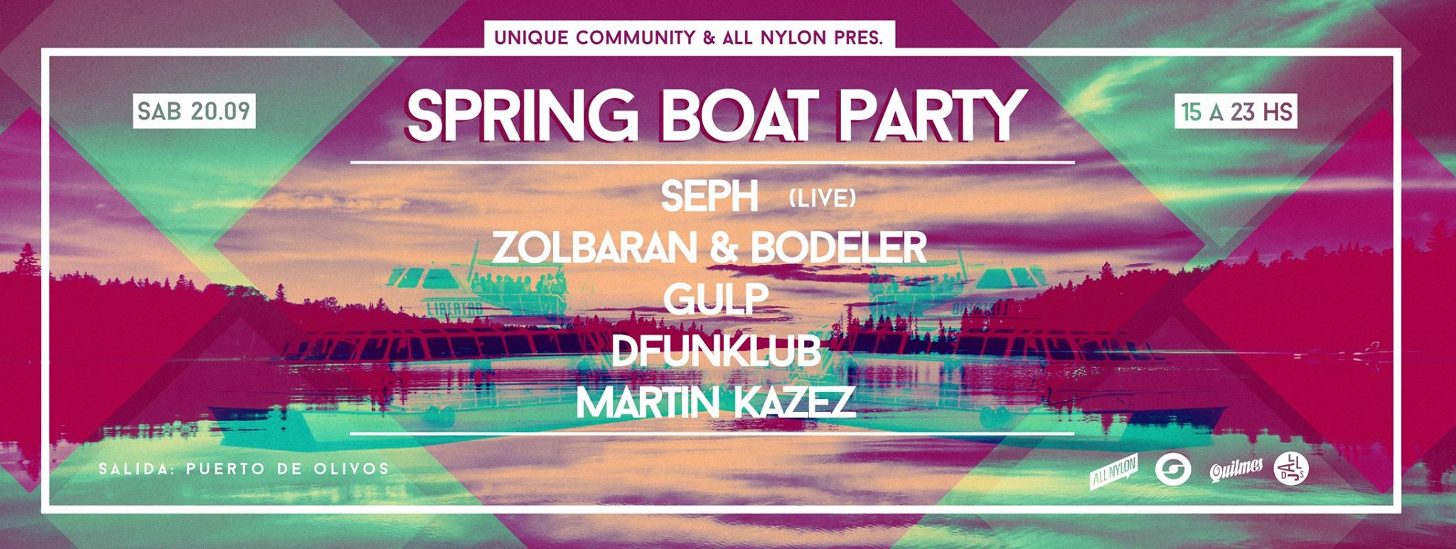 Spring boat party