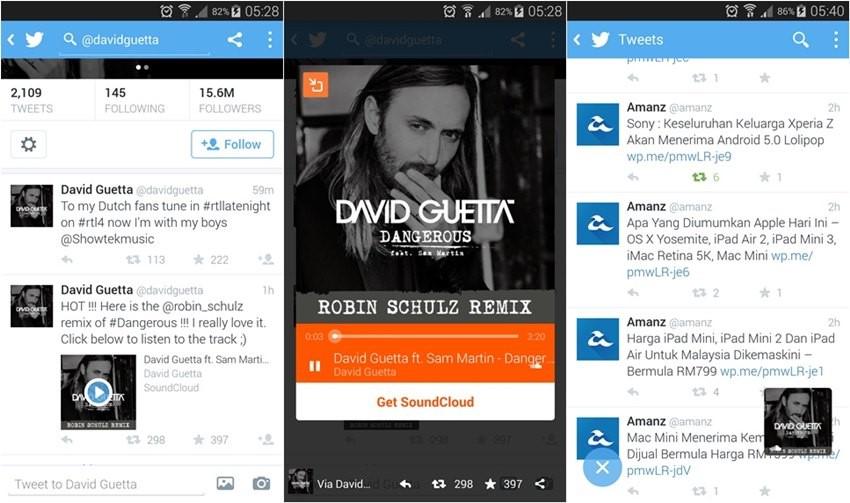 Soundcloud & Twitter