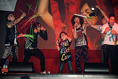 LMFAO  perorms with  Youtube sensation Keenan Cahill at TAO Las Vegas, NV, May 28, 2011 © Al Powers / RETNA ltd
