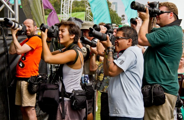 Photographers at Austin City Limits Music Festival