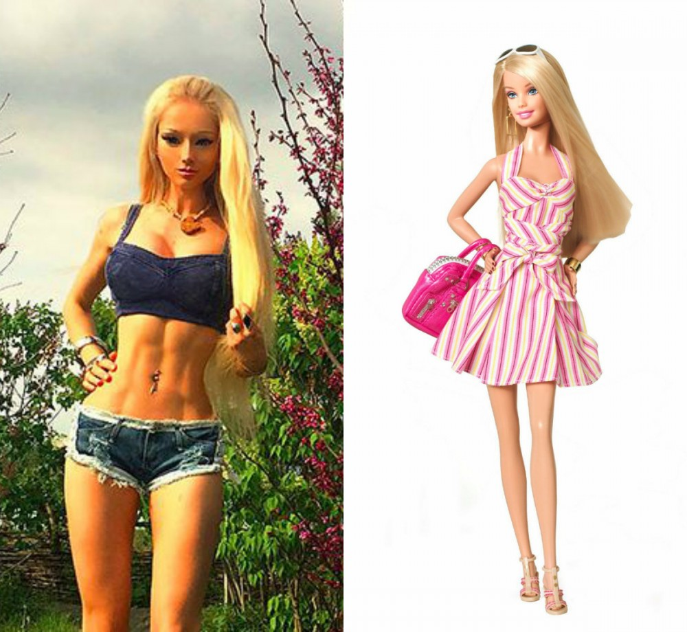 collage barbie