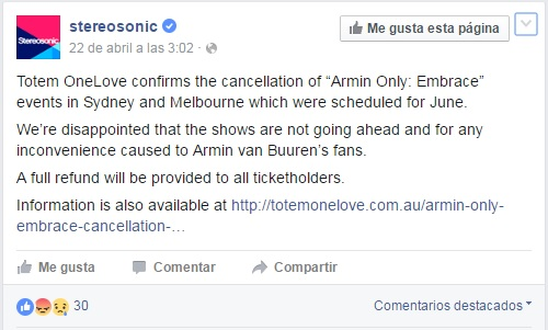 Cortesía: stereosonic Facebook Official