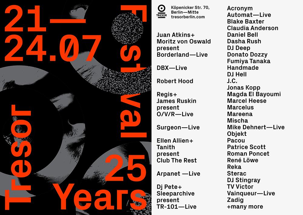 Tresor 25 Years Festival Poster 2