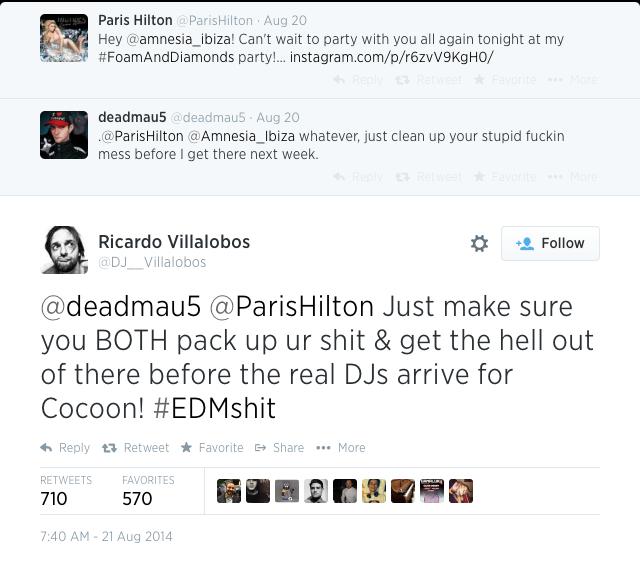 Villalobos vs Paris Hilton and Deadmau5