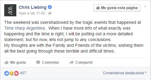 Cortesía: Chris Liebing Facebook Official