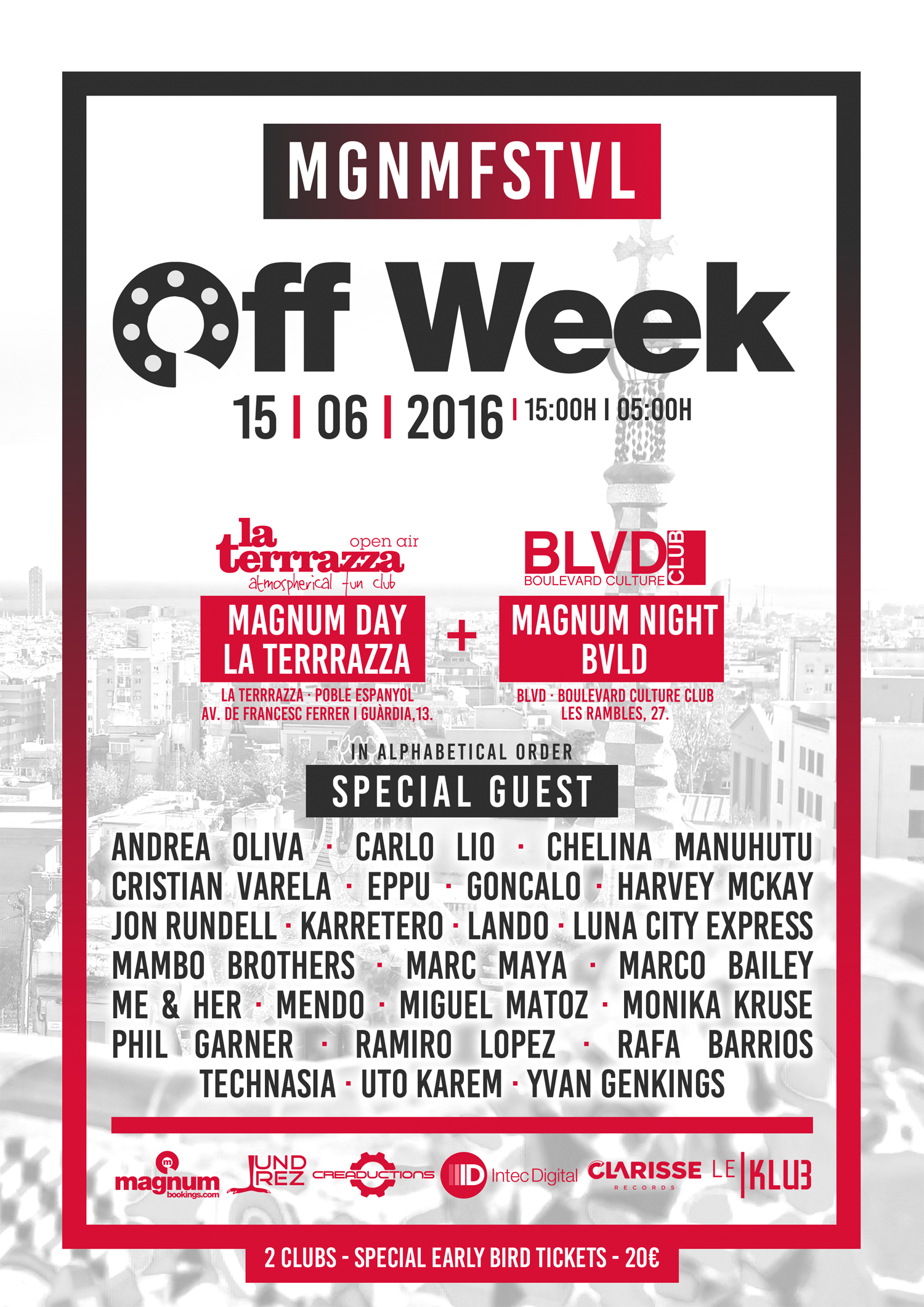 Lineup oficial Off Week Barcelona