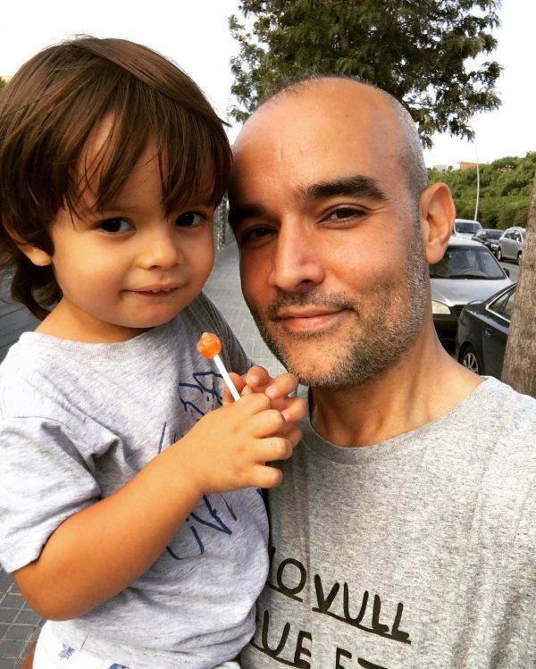 Paco Osuna y su hijo. Vía Instagram