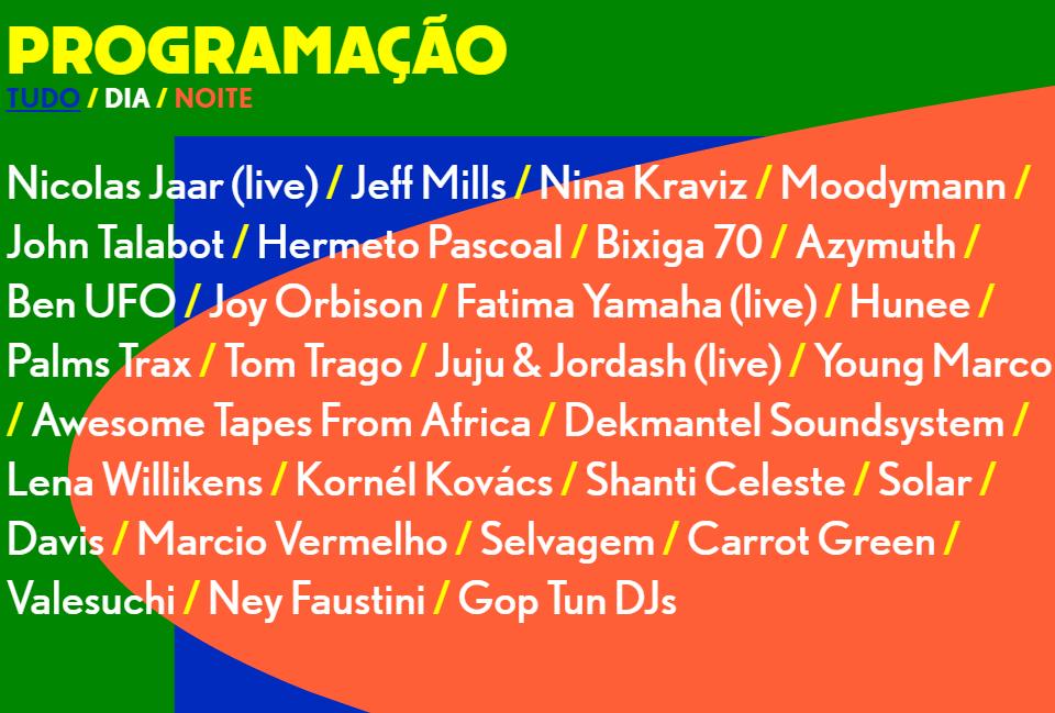 V�a Pagina Oficial Dekmantel Brasil 2017