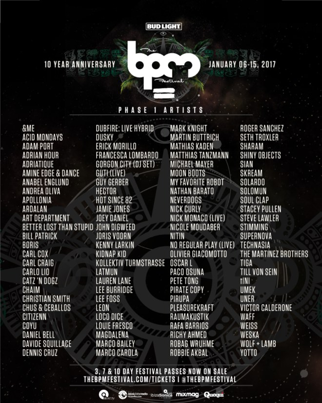 lineup bpm 2017