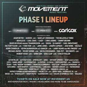 Line-up Movement 2017